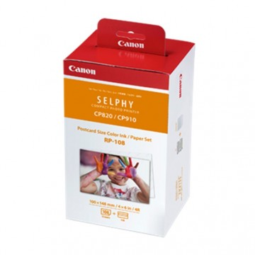 Canon RP-108 (4R Size Photo Paper & Ink Cartridge)
