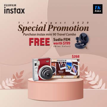 FUJIFILM INSTAX MINI 90 Neo Classic Travel Pack (Free: Sudio FEM /Blue)
