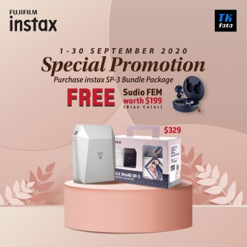 Fujifilm Instax Share SP-3 Limited Package (Free: Sudio FEM /Blue)
