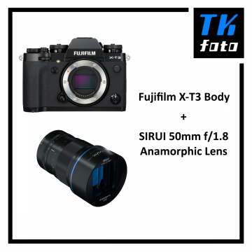 Fujifilm X-T3 Body + Sirui 50mm f/1.8 Anamorphic Lens Bundle