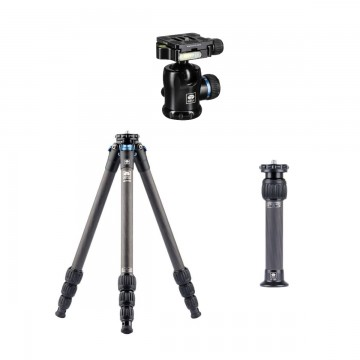 Sirui AM-254-CN Carbon Fiber Tripod + SL-200 Center Column + K-10X Ballhead