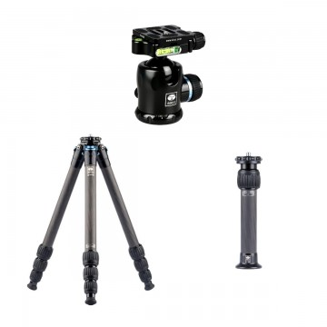 Sirui AM-284-CN Carbon Fiber Tripod + SL-200 Center Column + K-20X Ballhead